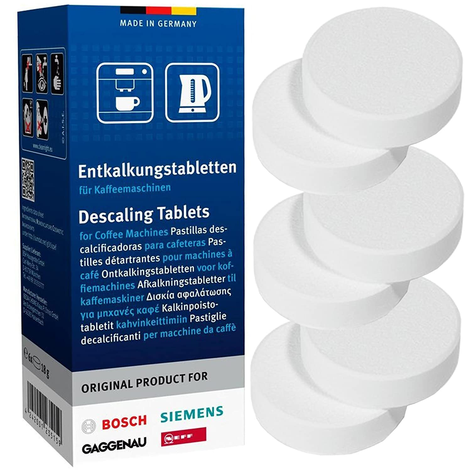 Bosch Coffee Machine Descaling Tablets (2 Packs of 6) Neff