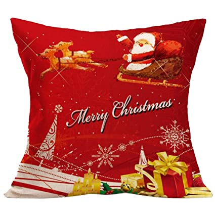 Amazon Gotd Home Decoration Christmas Pillow Cushion Cover Beauteous Outdoor Decorative Christmas Pillows