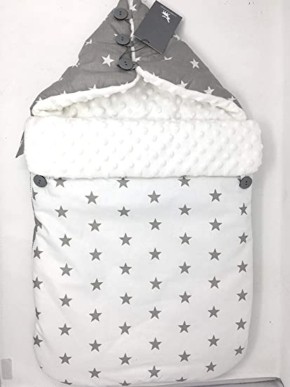 Cottonmoose- Saco Capazo Bugaboo Donkey Compatible- Hecho a mano- Danielstore (Gris-blanco) (330-25 24 58)