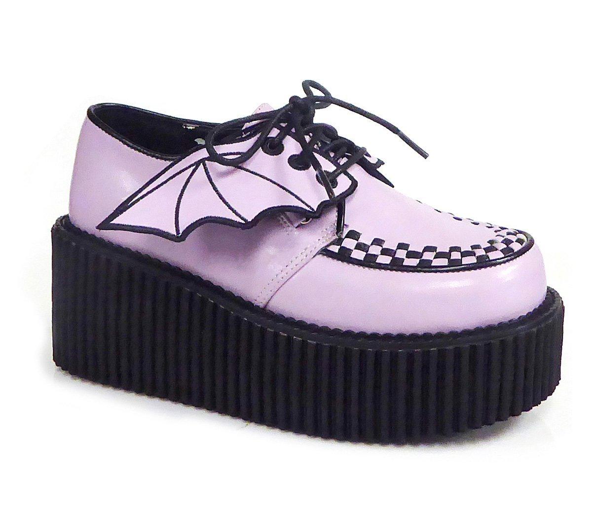 Demonia CREEPER-205 Womens Boots B074P9FQCQ 7 B(M) US|Lavender Vegan Leather