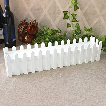 Mini White Picket Fence For Artificial Flowers Fake Rose, White Wood Fence  With Foam Plastic