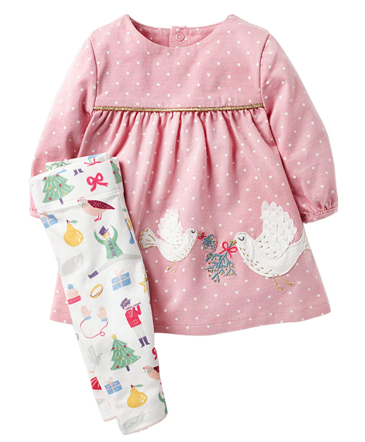 Fiream Longsleeve Casual clothing Sets Cotton Dress Sets 2 Piece For Girls(Z0004,2T/2-3YRS)
