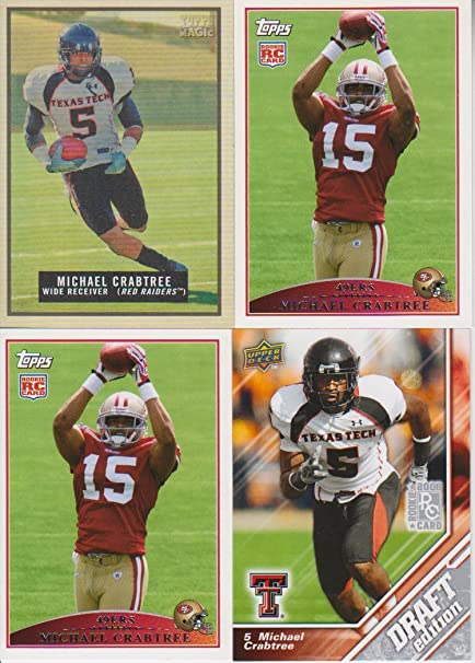 Michael Crabtree Rookie 4 Card Lot Topps Magic at Amazon s Sports ... a5ae99df3