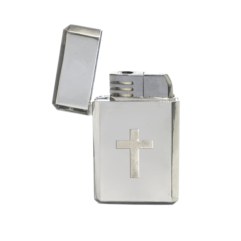 Amazon.com: Knight Silver Cross stormproof Gas Lighter: Home ...