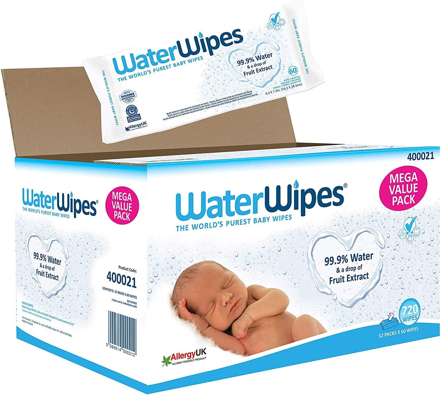 60 St/ück WaterWipes WaterWipes Reinigungst/ücher