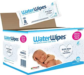 Waterwipes Super Value Box - Pack of 12, Total 720 Wipes
