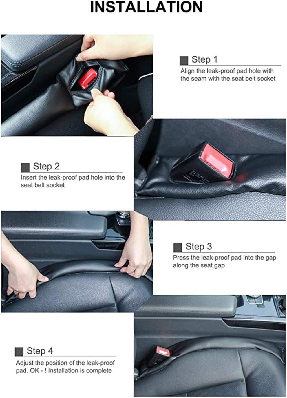 2 Pcs Car Seat Crevice Gap Filler Slot Plug Cover Pad Car Seat Side Hand Brake Gap Filler Pad Cussion For Audi S3//S4//S5//S6//S7//S8//S5coupe//Sq5