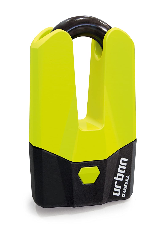 URBAN - Antivol Bloque Disque Mini U Ø15mm Jaune Fluo - Homologué SRA Artago Secure U9DY