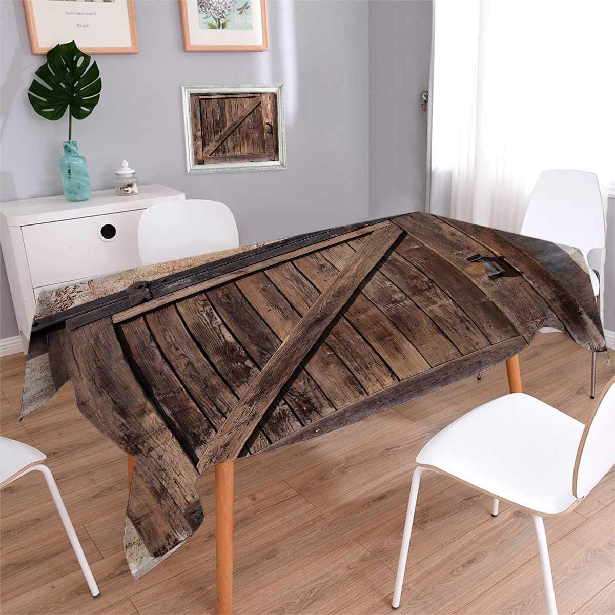 Anmaseven - Vajilla rústica para picnic, puerta corredera envejecida con textura rústica, estilo vintage auténtico, impresión arquitectónica rural, cubierta de mesa impermeable para cocina, marrón, tamaño: 36 x 36 cm: Amazon.es: Hogar