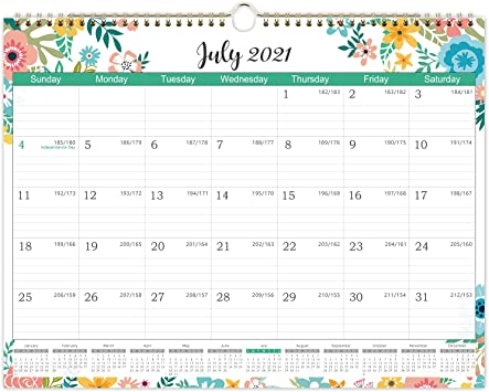Julian Date Calendar 2022.Amazon Com 2021 2022 Calendar Monthly Wall Calendar 2021 2022 Starts At July 2021 Not January 2021 14 84 X 11 41 Inches 18 Monthly Calendar With Julian Date Thick Paper For Organizing Planning Wire Bound Office Products