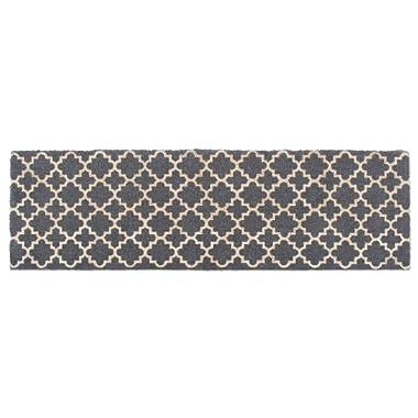DII Double Gray Lattice Doormat 18x60 ,