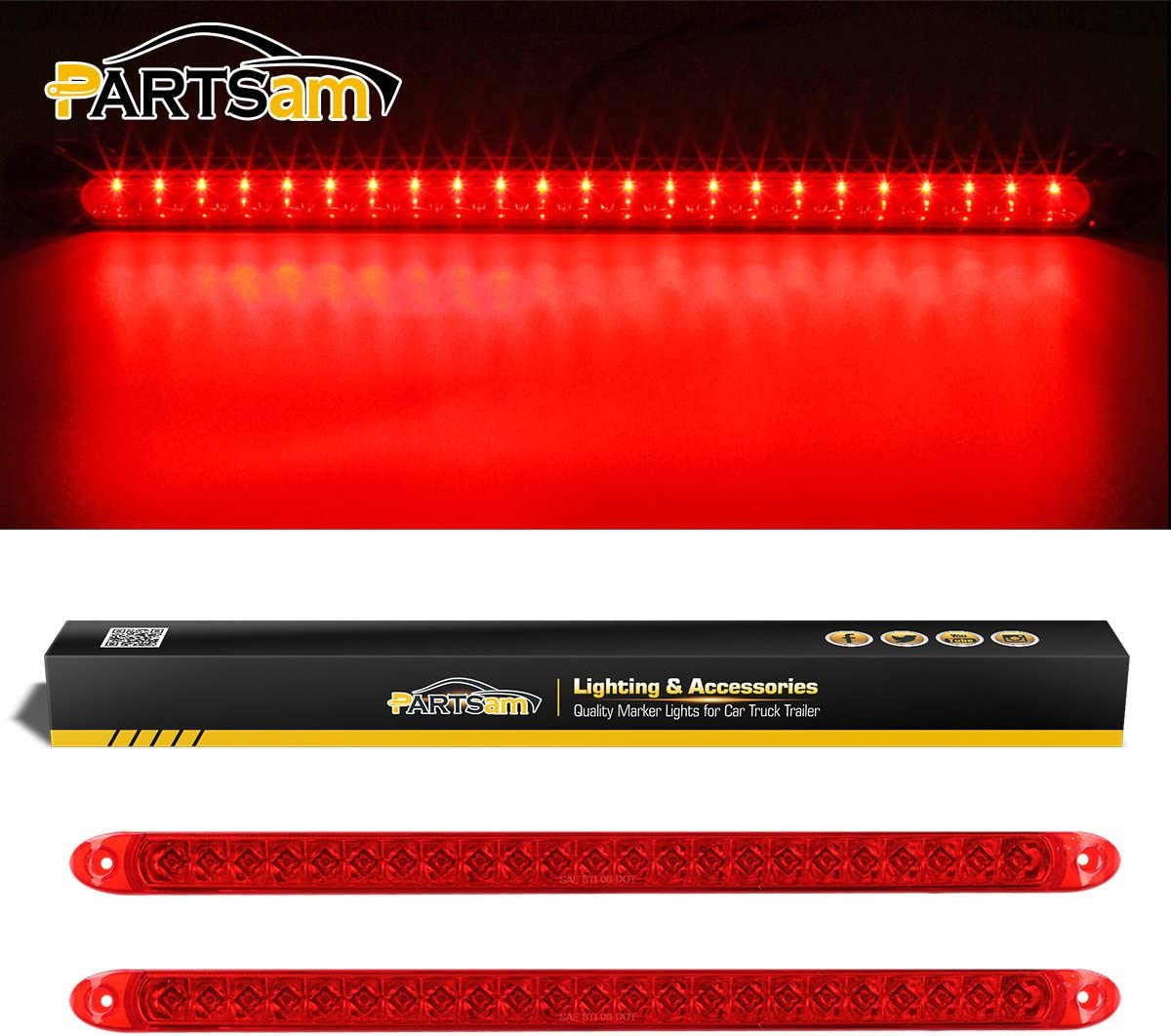 LED Super Thin Warning Light Colours RED BLUE AMBER BLUE//RED RRP £50 WHITE