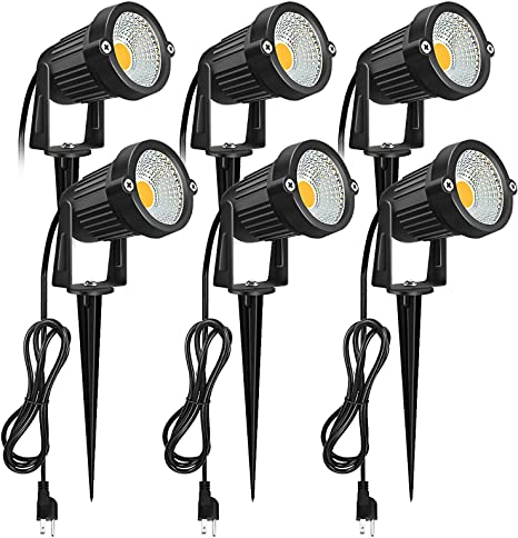 5W 10pcs LED Low Voltage Landscape Light Garden Outdoor Spotlight