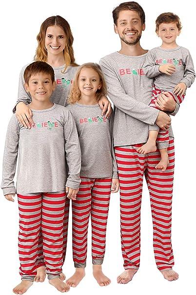 2018 sneakers pretty cool website for discount QUNISY Family Matching Christmas Pajamas Set Pyjamas Xmas Sleepwear Holiday  Pjs Polar Bear