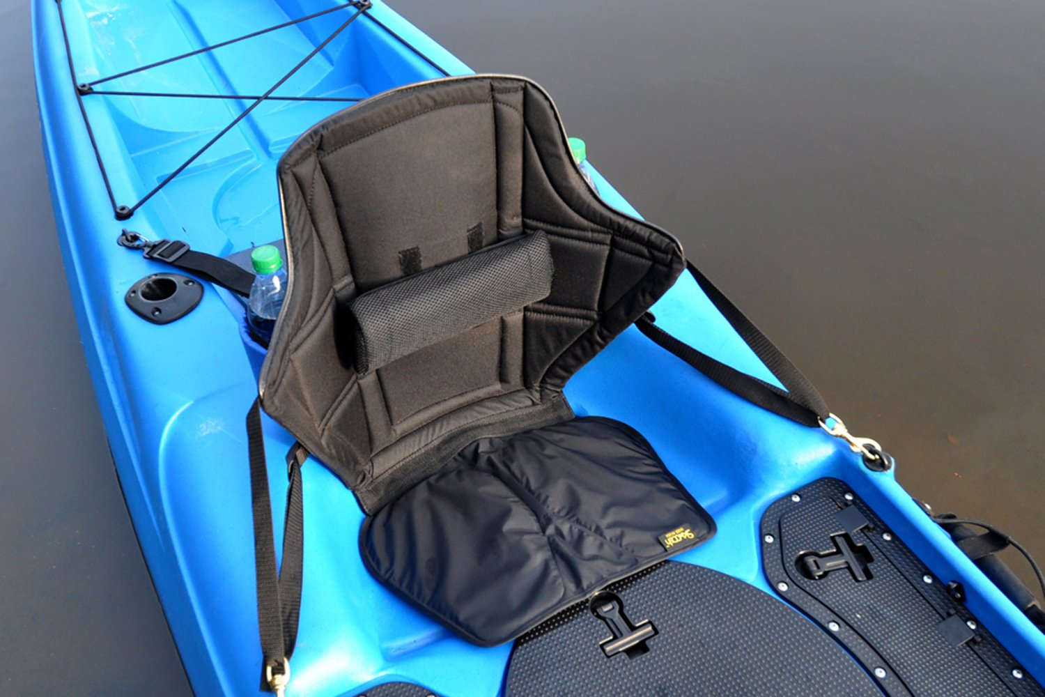 Expedition Kayak Seat 20'' High Back Support with Lumbar Roll and nylon gel seat bottom for kayaking comfort