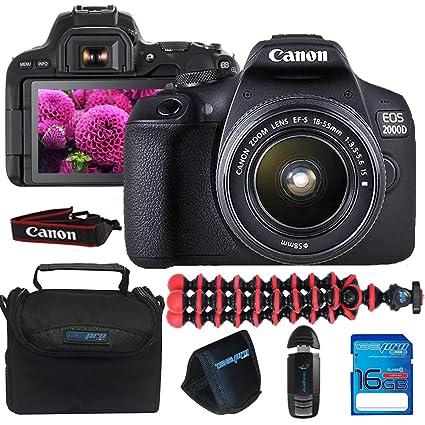 Canon EOS 2000D / Rebel T7 Cámara con EF-S 18-55mm f/3.5-5.6 is II ...