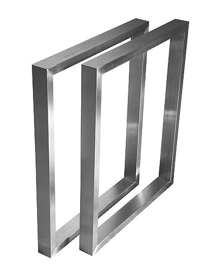 Gambe Tavolo In Acciaio.Base Per Tavolo Seduta Gambe Set 2 Ferro In Acciaio Inox 201 Profil