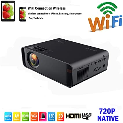 SOTEFE® Mini LED Proyector Portable 7000 Lumens - WiFi Proyector Portátil Full HD 1080P Video Multimedia Para iPhone/Samsung/Sony/Hauwei Smartphone ...