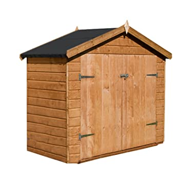 Shiplap Wooden Garden Apex Bike Store Shed Double Doors By