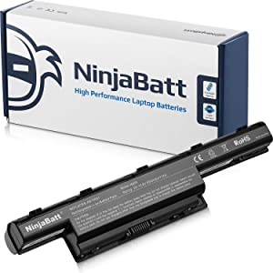 NinjaBatt 9 Cell Laptop Battery for Acer AS10D31 AS10D51 AS10D81 AS10D75 AS10D41 AS10D61 AS10D56 AS10D73 AS10D71 AS10D3E Aspire 5742 5750 5250 5560 5755 [9 Cells/6600mAh/71Wh]