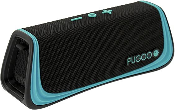 FUGOO Sport 9.9 - Portable Bluetooth Speaker Waterproof for Outdoor/Indoor  Use - Wireless Stereo Pairing, Rich Loud Sound & Deep Bass, Speakerphone,