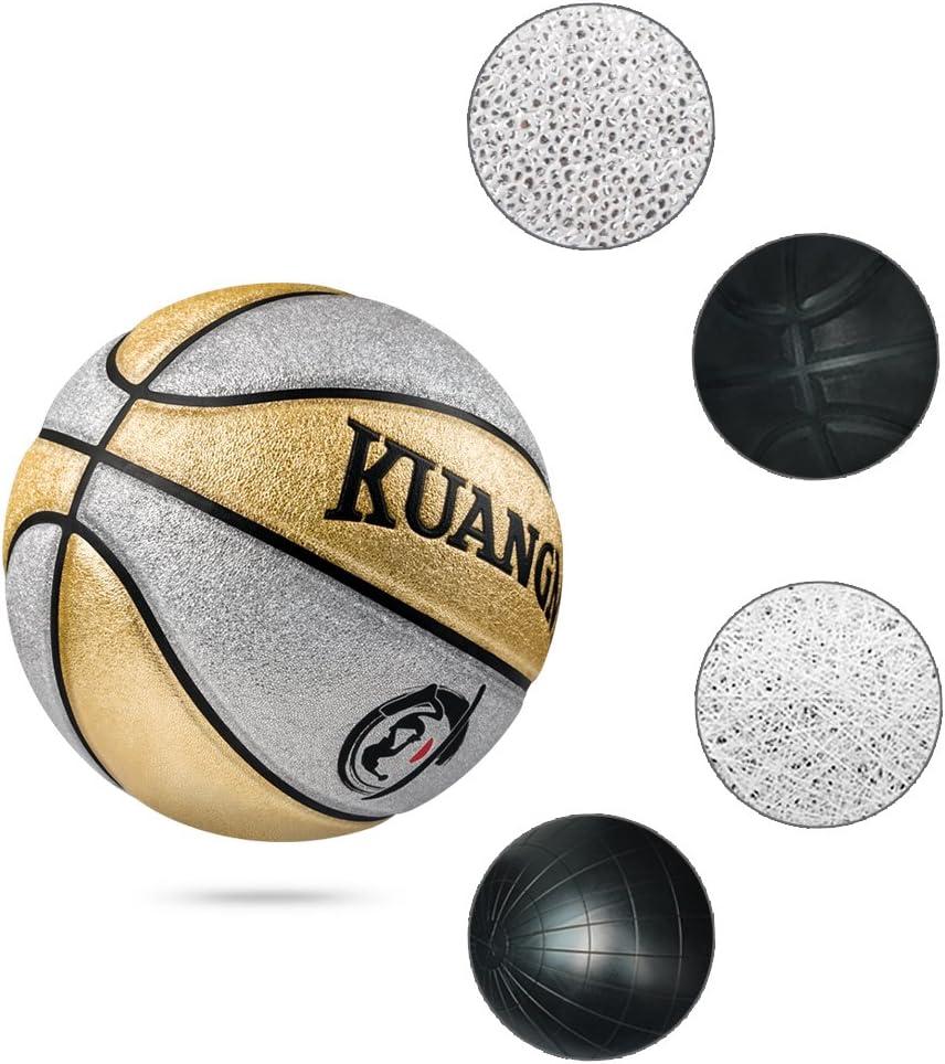 Kuangmi - Balón de Baloncesto limpiable (tamaño 5, para niños, Uso ...