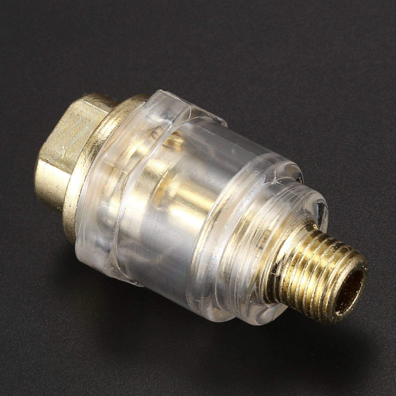 Beauneo Compressed Lubrificatore Olio Lubrificatore Aria 6Mm Olio Per Nebulizzazione Aria Compressa 1//4 pollice