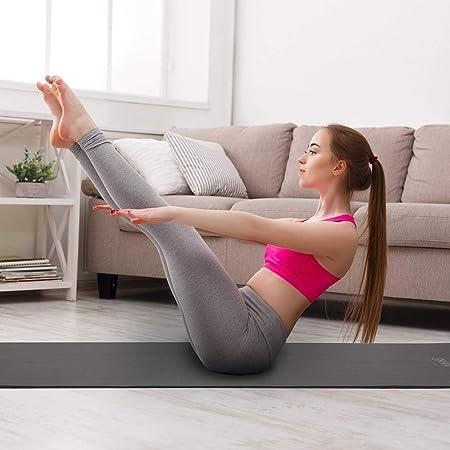 JAG Esterilla de Yoga Yoga y Pilates Black NBR Comfort Foam ...