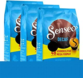Senseo Da©Cafa© / Decaffeinated, New Design, Pack of 3, 3 X 48 Coffee Pods
