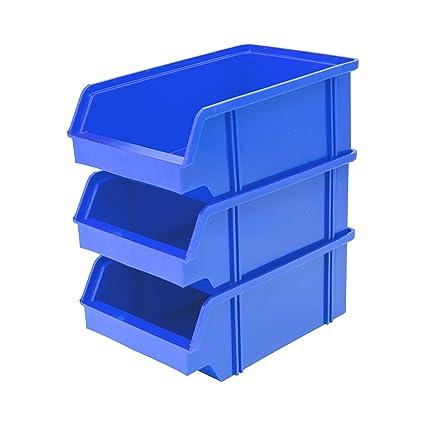 Lantelme 6354 Cajas 25 unidades – Caja de almacenamiento, plástico apilable Color Negro de fabricación