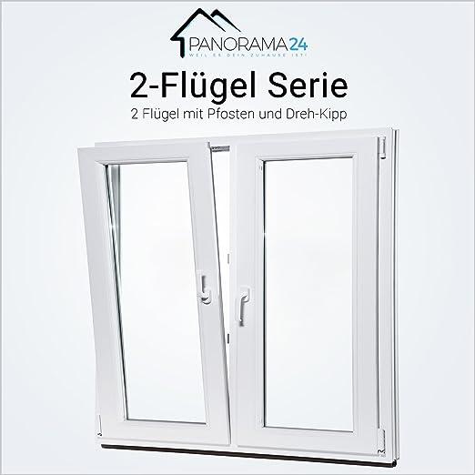 Dreh-Kipp BxH:85x85 cm DIN Links ALLE GR/Ö/ßEN Premium Fenster Kellerfenster Kunststofffenster wei/ß 3 fach Verglasung