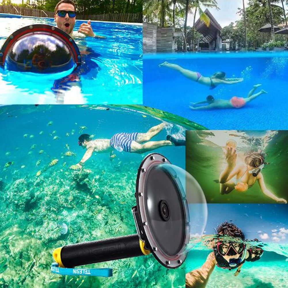 TELESIN 6 Unterwasser T03 Dome Port Diving Lens photography Dome Port f/ür die GoPro Hero3//3 //4