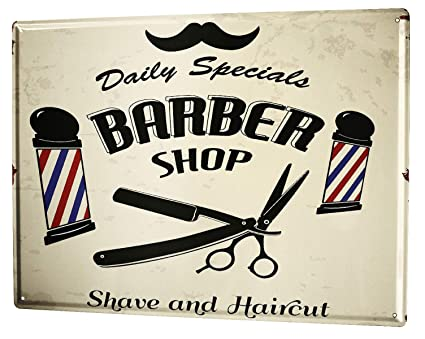 Amazon.com: Tin Sign Office Workshop Barbershop Vintage ...