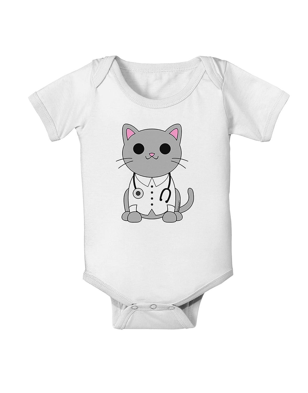 TooLoud Dr Cat MD Cute Cat Design Baby Romper Bodysuit