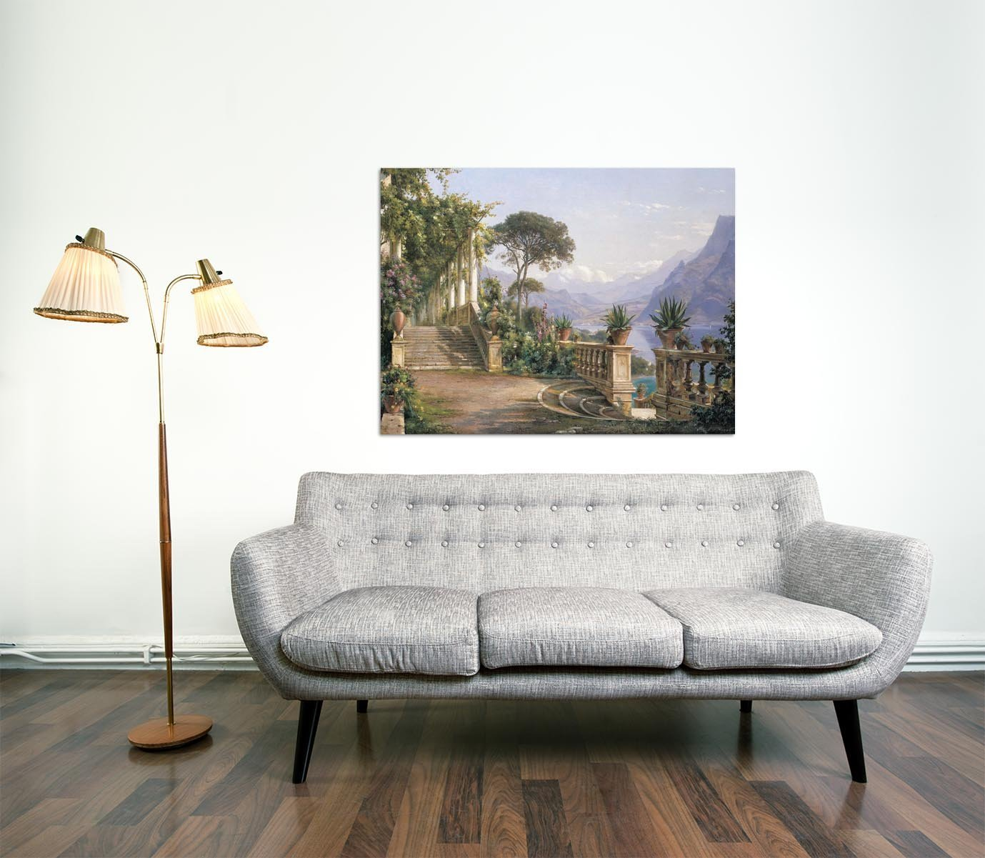 Amazon.de: Aagard Lodge on Lake Como Rahmen MDF-Rand schwarz 100 x 75 cm