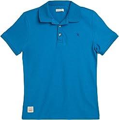 OFFCORSS Big Boys Short Sleeve Polo Shirts for Kids Camiseta Polo para Niños