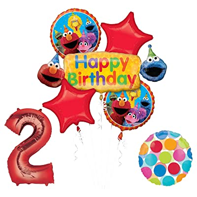 Elmo And Friends Sesame Street 2nd Birthday Supplies Decorations Balloon Kit Toys Games 70
