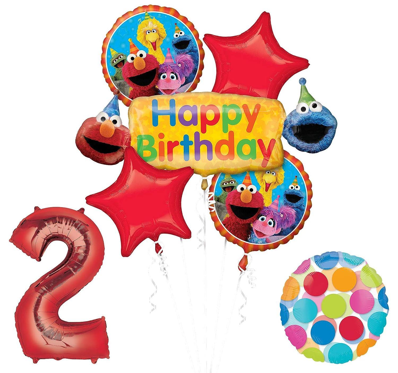 Amazon Elmo And Friends Sesame Street 2nd Birthday Supplies Decorations Balloon Kit Toys Games