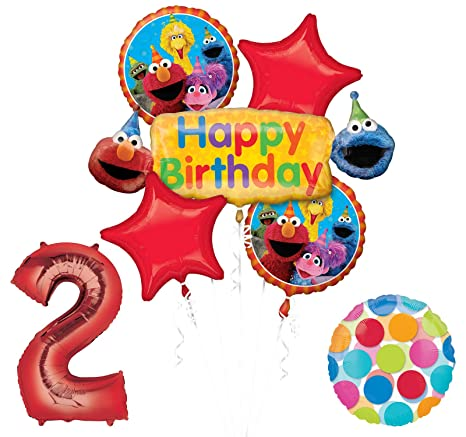 Amazon Elmo And Friends Sesame Street 2nd Birthday Supplies