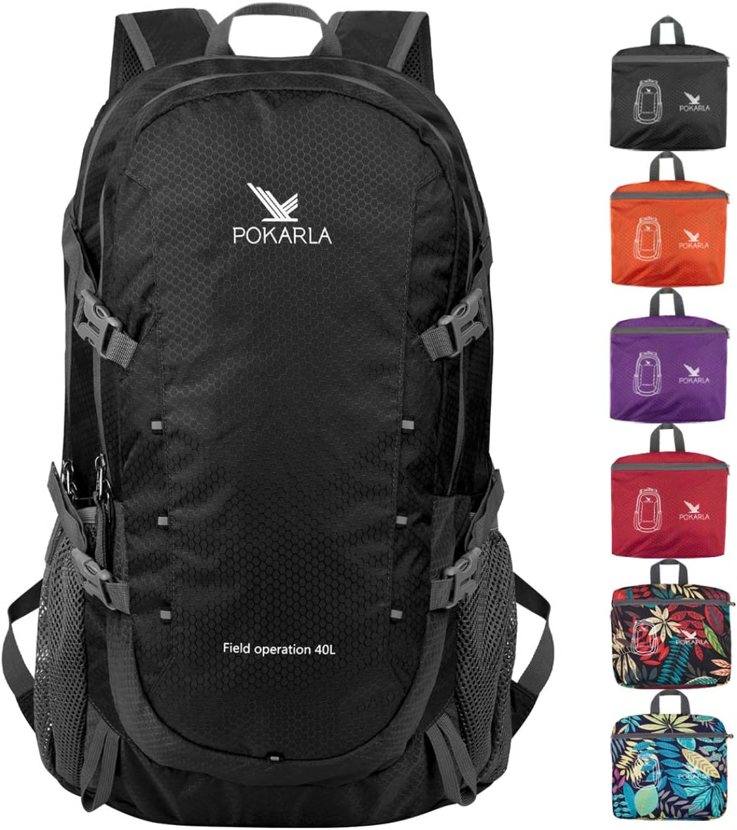 KENYARD Lightweight Foldable Backpack, Ultralight Handy Packable Day Pack for Camping Backpacking Outdoor Sports Back Pack