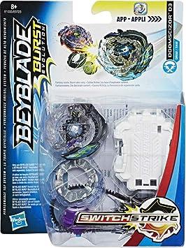 Beyblade E1033/E0723 Switch Strike Starter Pack doomscizor D3, peonzas, color negro: Amazon.es: Juguetes y juegos