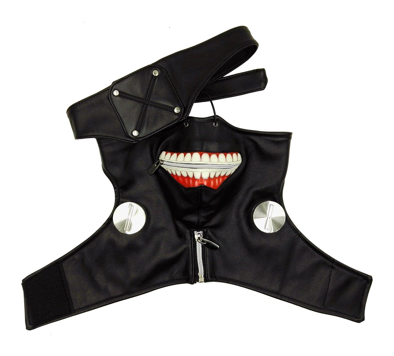 ANOTHERME Sale Tokyo Ghoul Ken Kaneki Season 1 Black Zipper Mask Party Cosplay Accessories Prop