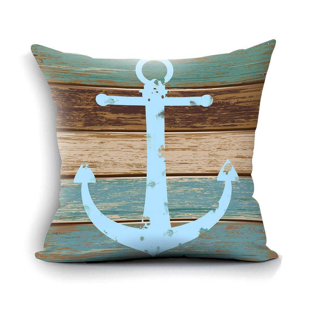nautical throw pillows Velvet Anchor Sea Style Case Decorative Pillow Case Cover