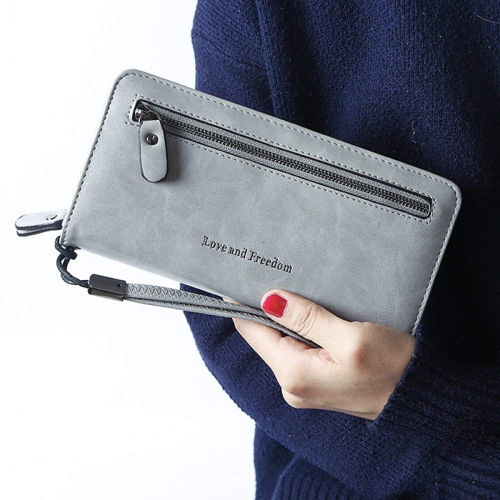 D Cross Fashion Women's Hand Purse Women's Long Section Zipper MultiFunction Simple HighCapacity Wallet for Work (color   E)