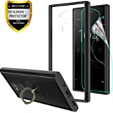 "Sony Xperia XA2 Ultra Clear Case With HD Screen Protector + Phone Stand,Ymhxcy [Anti-Scratch] [Shock Absorption] [Air Hybrid] Ultra Slim Bumper Cover For Sony Xperia XA2 Ultra (6"")-CB2 Black"