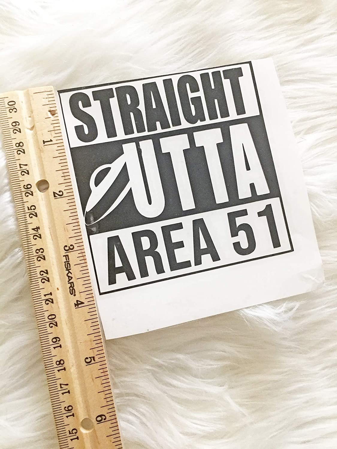 Car Window Decals Set of 3 Area 51 Vinyl Decal Stickers Handmade in USA