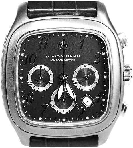 Amazon Com David Yurman Xl Titanium Thoroughbred Date Chronograph New Watch Box Tags 4450 David Yurman Watches