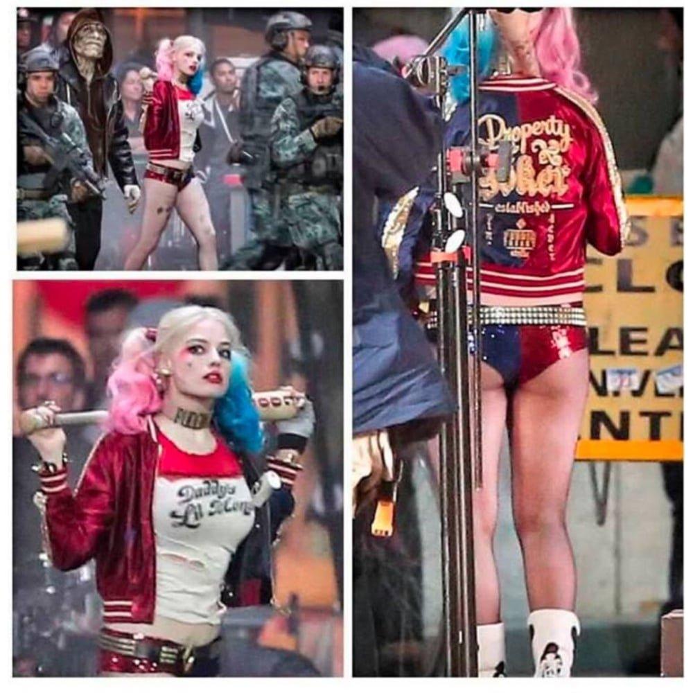 Suicide Squad Harley Quinn Women's Juniors Bomber Jacket -Women's Medium