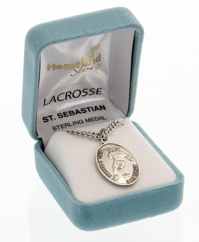Amazon.com: Hombre plata de ley Medalla de San Sebastian ...