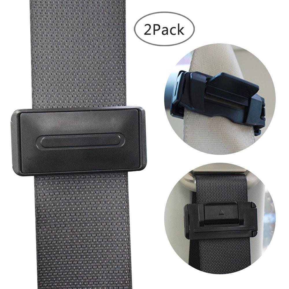 KOBWA Car Seat Belt Adjuster - 2Pcs, Seatbelt Clips Locks, Relax Shoulder Neck, Smart Adjust Car Seat Belts for Baby, Kids and Pregnancy B07H9P7CPH